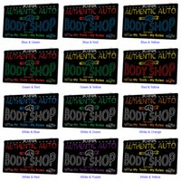 LX1228 Your Names Authentic Auto Body Shop My Tools Rules Light Sign Dual Color 3D Engraving