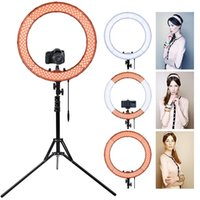 Flash Heads FOSOTO 18 Inch Led Ring Light Pography Lamp Selfie Ringlight With Tripod Stand For Makeup Youtube Tiktok