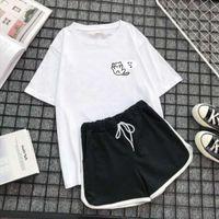 Suit Kawaii Pajamas Two Piece Women Sleepwear Set Summer Sweet Girl Homewear Pyjamas Spring Night Home Clothes Plus Size 3xl