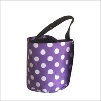 Halloween Bucket Party Kids Carry Baskets Candy Toy Sacks Gift Wrap Polka Dot Funny Trick or Treat Tote Storage Bags Festives BWD9116