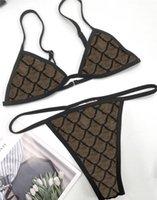 Mode Jacquard Lettre Womens Bikinis Ensembles Sexy Backless Womenwear Maillot de bain respirant Trois Points Maillots Maillots de bain Maillots de bain