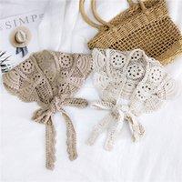 Neue Sonnenvogel Spitze Feste Farbe Dreieckige Binder Damen Frühling Herbst Winter Kleine Schal Handgelenk Kleine Seidenschal