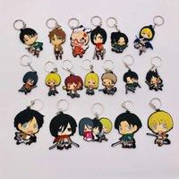 10pcs Anime Figure Attack on Titan Keychain Soft Pvc 3d Double Side Cartoon Key Ring Key Chain Kids Toy Key Holder Trinket Gift H0915