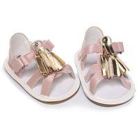 Baby Tassel Design Sandales antidérapantes Child Summer Filles Sneakers Fashion Chaussures bébé 0-18m