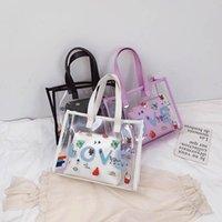 Handtaschen Kinder Taschen Mädchen Kinder PVC Klar Süßes Mädchen Zubehör Jelly Geldbörsen B5473