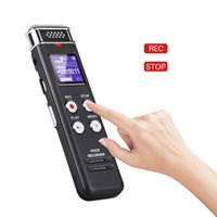 Digital Voice Recorder EVISTA 16GB AVR Audio Recording Device MP3 Player WAV 1536kbps Rechargeable USB Dictaphone With Playback
