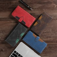 NEW Luxury PU Leather Phone Case for iPhone 12 11 Pro Max mini X XS 7 8 PLUS Samsung s20 30 Wallet Case Cover Kickstand with Card Slots