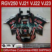 OEM Bodys Kit voor Suzuki 250CC RGV250 SAPC BLK VJ21 RGV250 RGV-250CC 88 89 Carrosserie 21HC.33 RIZLA ROD RGVT-250 RGV-250 PANEEL RGVT RGV 250 CC 1988 1989 Full Backings Kit