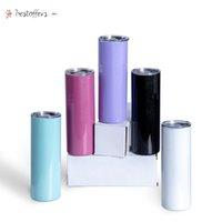 Fast delivery 20oz sublimation straight tumbler sunlight sensing stainless steel insulated uv color changing tumblers BJ08