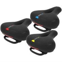 Sillín de bicicletas Sillín de bicicleta transpirable Sin deslizamiento Amortiguador de asiento absorbente con mango de seguridad Espuma de memoria de ciclismo