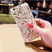 Чехол блеска XSMYISS для A9 A8 A6 PLUS A50 A70 A80 J4 J6 J8 2021 роскошный кристалл Bling Crystal Crinsthone алмазные мягкие чехлы
