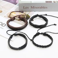 2021 Handmade Men Leather Women Vintage Bangle Male Homme Jewelry Accessories Charm Bracelets for Women's Gift