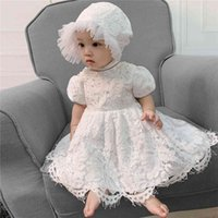 2021 New Baby Girls 1st Birthday Party Dress Baby Peuter Boutique Clothing Flowers Girls Dresses For Weddings 210506