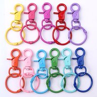 DIY Lobster Clasps Clips Snap Hooks Snaps Hook chain Party Supplies Wholesale 31mm Metal Colorful Lobsters Clasp Swivel