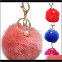 Jewelry22 Styles Cute Key Rings Nice Variety 8Cm Pompom Keychain High Quality Bag Pendant Keyring Women Fashion Jewelry Gifts Kimter-P61Fa Dr