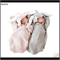 Toalhas vestes milancel cobertores de bebê envelope para nascimentos cobre coelho orelha swaddling envoltório pography menina roupas lj200819 ovukv eiak1