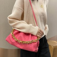 Factory Handbag Pu Swdf Bag Luxe Learn Brand Fashion Thick Chain Shoulder Bagstrendy Crossbody Bags For Women 2021 New