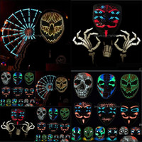Festive Home & Gardenhalloween Mask Led Light Up Glowing Party Funny Masks The Purge Election Year Great Festival Cosplay Costume Supplies C