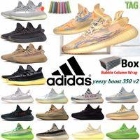 Mx aveia kanye west adidas yeezy boost 350 v2 homens mulheres executando sapatos yeezys zebra tail luz concreto estático reflexivo carbono israfil mulheres sports sneakers