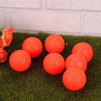 Golf Balls 12pcs Sports PU Indoor Outdoor Practice Training Aids Exercise Field Golfball(Orange)