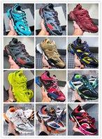 높은 quanlity 3 트리플 s 플랫폼 캐주얼 신발 남성을위한 빈티지 스니커즈 여성 블랙 레드 화이트 그린 아빠 테니스 디자이너 운동화 크기 36-45