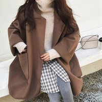 High Quality Womens Coats Casual Ladies Pocket Long Sleeve Cardigan Loose Sweater Tops Trench Coat Plus Size S-4XL s