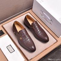 MM Itens de luxo Oxford para homens vestido de noiva Escritório Social Sapato Masculino Calçados Formal Menina Genuine Moda Impressão Customizável 33
