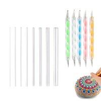 Craft Tools 13pcs Nail Art Brush Design Tip Painting Drawing Carving Dotting Pen Builder Flat Fan Liner Acrylic Gel UV Polish Tool Manicure