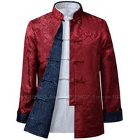 Ethnic Clothing 9Colors Men Chinese Style Coat Cheongsam Tops Tang Suit Jackets Wu Shu Tai Chi Shirts Casual Blouse Oriental