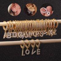 1Piece Single Letter Stud Earrings For Women Trendy Jewelry Ear Cuffs Stainless Steel Teens