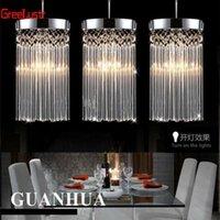 Modern Moda Basit Cilası Avize LED K9 Kristal Kolye Lamba Restoran Işıkları Balkon Koridor 110 V-260 V Gerilim Işık Tavan