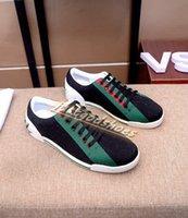 2021 Yüksek Kalite erkek Retro Düşük Üst Baskı Rahat Ayakkabılar Tasarım Örgü Loafer'lar Runnin Sneakers Bayanlar Moda Dantel-Up Lüks Erkek Shoess