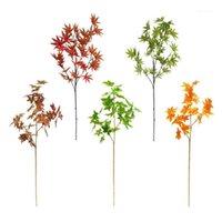 1 pc folhas artificiais ramo de árvore de plástico simulação de plástico decoração jardim paisagismo decoração decorativa flores de flores1