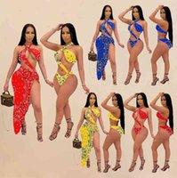 2021 صيف جديد إمرأة مطبوعة المايوه قطعتين مجموعات مثير المثيرة ملابس السباحة بيكيني طباعة ملابس السباحة تغطية bathingsuit ملابس السباحة D359