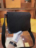 M45272 Distrikt Messenger Bag Cross Body Eclipse Leinwand Leder Hobo Schulter Geldbörsen Totes Designer Luxurys Herren Handtasche