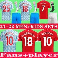 2021 بوجا مانشستر فرنانديس كافاني utd راشفورد سانشو لكرة القدم جيرسي الاطفال رجل كيت كرة القدم قميص 21 22 المعدات الكبار دعوى للأطفال + الجوارب