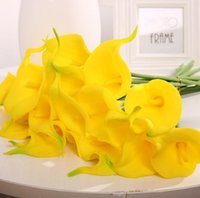 Colorful Artificial Calla Gily Flower Real Touch Delicata PU Mini callas Lilys Bouquet per la decorazione della festa di nozze domestica Ood6392