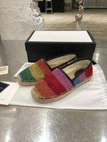 21SS 여러 가지 빛깔의 Espadrille 인쇄 로퍼 신발 Womens 캡슐 캔버스 낮은 스니커즈 이탈리아 Luxurys 디자이너 트레이너 황마 유일한 주자 캐주얼 로퍼 신발