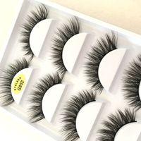 Makeup 5 Pairs Set False Eyelashes 3D Mink Lashes Soft Thick Eyelash G800 Crisscross Winged Natural Long No Fall Off