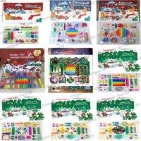 Natal Dia das Bruxas Advento Calendário Fidget Brinquedos 24 Pcs Conjuntos Presentes Denompression Toy Dropshipping Soft Squeeze Raciocinamento Lógico Treinamento Novidade Presente
