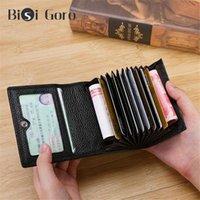 2021 الرجال جلد طبيعي محفظة بطاقة الأعمال حامل البنك معرف صغير عملة محفظة مصغرة محافظ