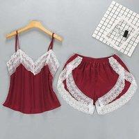 Safenh Mujer Pijamas Conjuntos Nightgowns Sexy Señoras Satén Nightwear Mujer Robe Nighties Sleepwear Shorts Combinaison Pijama Femme Q0706