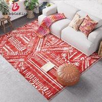카펫 거품 키스 민족 스타일 카펫 레드 간단한 거실 보헤미아 홈 문 매트 침실 장식 비 슬립 영역 깔개를위한 깔개