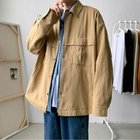 Men's Jackets Spring And Autumn Workwear Jacket Korean Fashion Trend Youth Casual Loose All-match Top Oversized Chaquetas Hombre