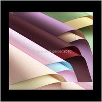 Doublefaced doble colore impermeable espesar 7 seda tienda flor envasado papel embalaje negocio industrial kp7m raej1