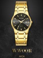 2021 Wwoor Mode Diamant Männer Uhren Top Marke Luxus Gold Schwarz Quarz Armbanduhr Wasserdichte Automatik Datum Relogio Masculino 05