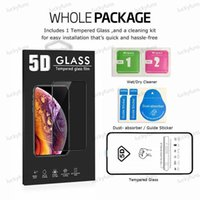 Screen Protector For Iphone 12 Pro Max 11 X XR 7 8 5D Tempered Glass Full Body Cover Film With Package