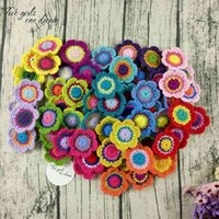 Original 6.5cm Comércio Mão Crochet Doilies Pad Handmade Copo Mat PO Adereços Placemat Mat Decorativo DIY Roupas Acessório 210821