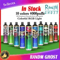 randm ghost 10 flavs 전자 담배 4000puffs 일회용 vape 배터리 충전식 8ml 미리 페로 덮개 e cig 파이프 연기 mod 액세서리 대 공기 바 shisha 펜