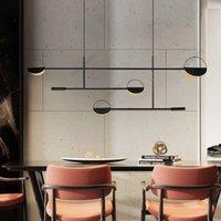 Modern Led Pendant Lamp for Kitchen Dining Room Metal Black Gold Adjustable 4 Heads Indoor Industrial Lamp Bedroom Furniture